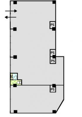 三共コーポビル:基準階図面