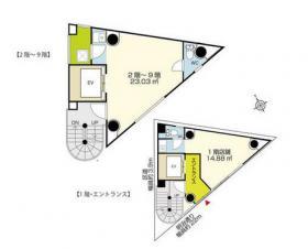 三ツ星不動産新宿ビル:基準階図面