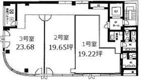 ル・グラシエル20ビル:基準階図面