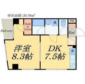 中央区東日本橋新築計画(仮称)ビル:基準階図面