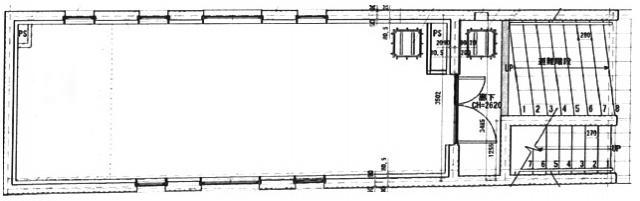 GRARIAビル B1F~3F 40.25坪(133.05m<sup>2</sup>) 図面