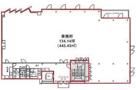 外苑オフィスビル:基準階図面