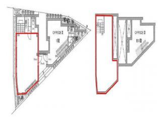 LAPiS恵比寿ビルの基準階図面
