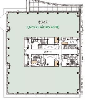 品川シーサイドパークタワー:基準階図面