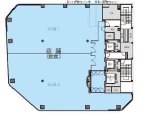 仮称)秋葉原プロジェクトの基準階図面