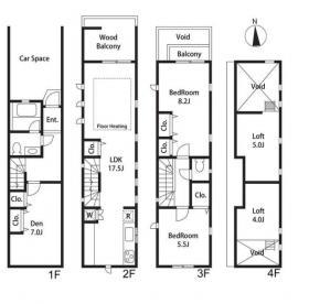 西麻布2丁目戸建ビル:基準階図面