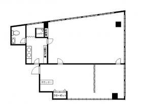 信濃町外苑ビル:基準階図面