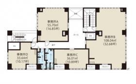 渋谷グリーンテラスⅡビル:基準階図面