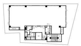 仮称)大門町3丁目計画ビル:基準階図面