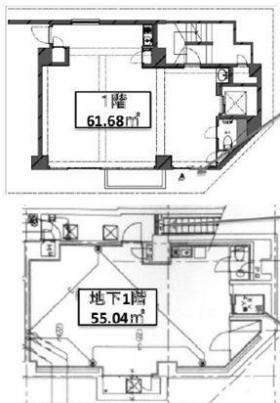 プリンセスコート東麻布ビル:基準階図面