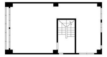 仮)銀座MCビルの基準階図面