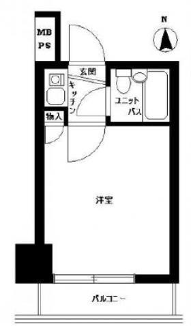 ニューライフ新宿参番館ビル:基準階図面
