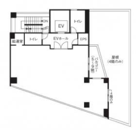 仮称)千駄ヶ谷3丁目計画ビル:基準階図面