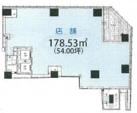 仮)麹町3丁目ビル:基準階図面