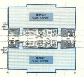横浜メディアタワービル:基準階図面