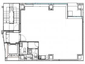 仮称)南青山6丁目新築ビル計画ビル:基準階図面