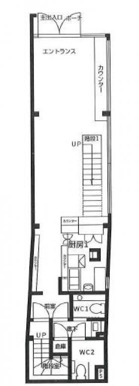 CAFE634ビル:基準階図面