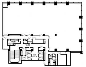 丸の内二重橋(プレミアオフィス)ビル:基準階図面