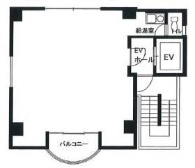 日宝新御茶ノ水ビル:基準階図面