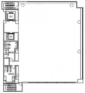 仮)半蔵門PREX South:基準階図面