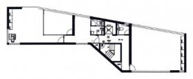 恵比寿クロスサードビル:基準階図面