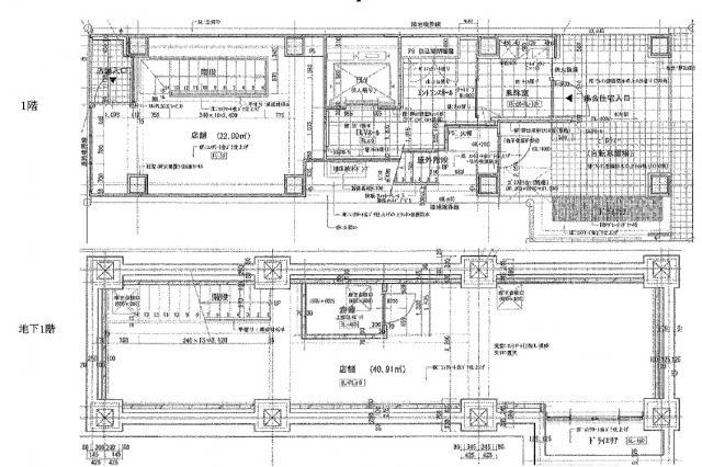 仮称)東日本橋マンション B1F~1F 19.02坪(62.87m<sup>2</sup>) 図面