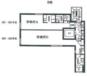 南平台ビルB棟ビル:基準階図面