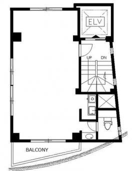 鶯谷北野ビル:基準階図面