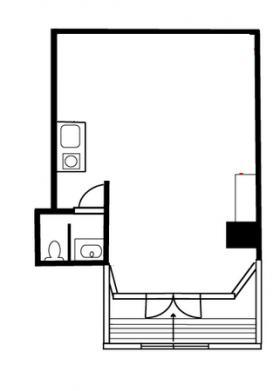 カワノビル:基準階図面