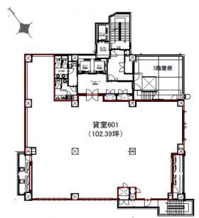 仮)三軒茶屋ビル計画:基準階図面