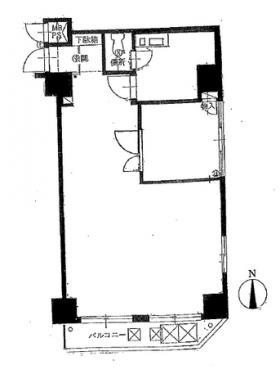 ロジマン御苑ビル:基準階図面