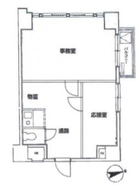 エールプラザ戸山台ビル:基準階図面