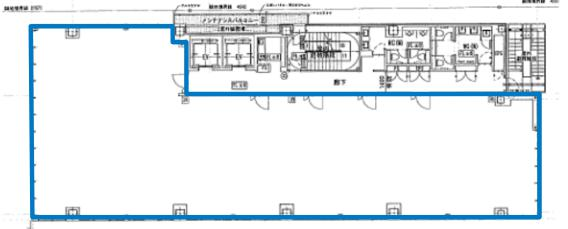 S-FRONT代々木ビル 7F 100.46坪(332.09m<sup>2</sup>) 図面