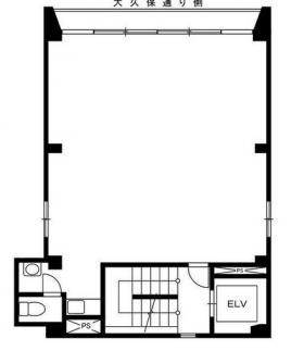 梅野産業ビル:基準階図面
