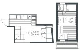 ザ・デンズ曙橋ビル:基準階図面
