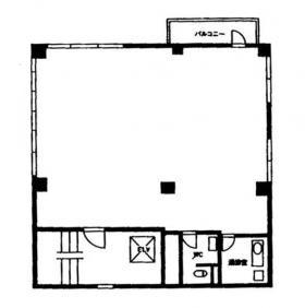 ペガソ21海岸ビル:基準階図面