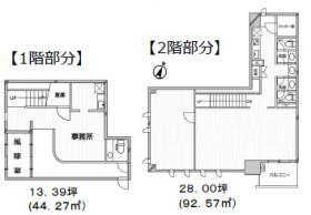 Due大宮ビル:基準階図面