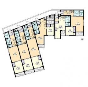 ヴィラージュ白金台ビル:基準階図面