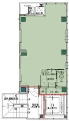 仮称)中央区日本橋蛎殻町1丁目計画ビル 4F 9.84坪(32.52m<sup>2</sup>) 図面