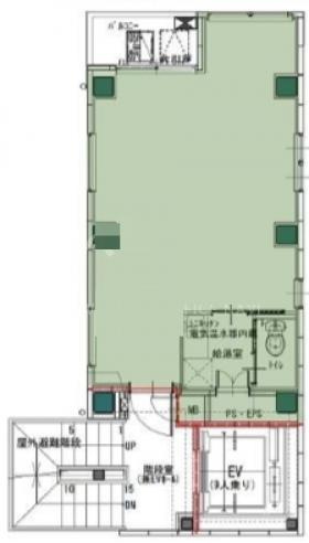 仮称)中央区日本橋蛎殻町1丁目計画ビル:基準階図面