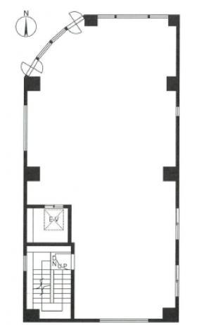 N&Hビル:基準階図面