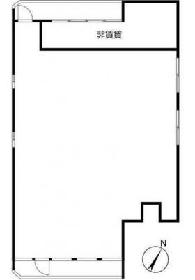 荒井ビル:基準階図面