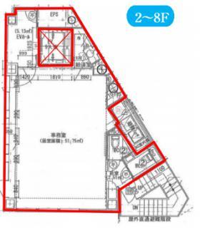 クロスポイント南池袋ビル:基準階図面