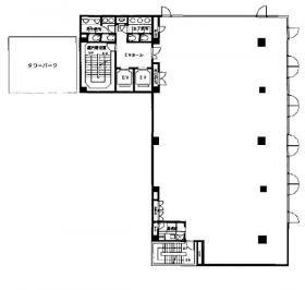 TOKYO YBビル:基準階図面
