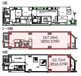 仮称)東新橋2丁目計画ビル:基準階図面