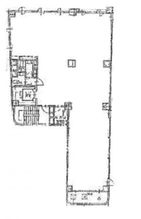 仮称)築地2丁目ビル:基準階図面