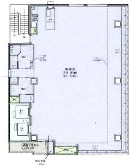(仮)銀座三丁目計画ビル 7F 61.72坪(204.03m<sup>2</sup>) 図面