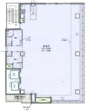 (仮)銀座三丁目計画ビル:基準階図面