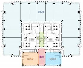丸の内ビルディングプレミアオフィス:基準階図面