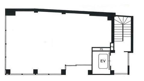 表参道アクセス(仮称ビル 1F 17.31坪(57.22m<sup>2</sup>) 図面